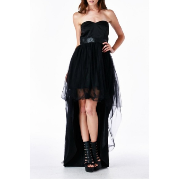 TOV Holy Dresses & Skirts - NWT Tov Holy Hi Low Strapless Black Cocktail Dress
